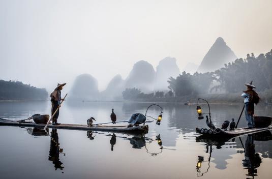Pêcheurs dans la brume Philippe Cap
