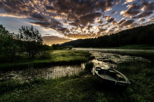 Lac de Lamoura, Jura Photo : Fred Senchet