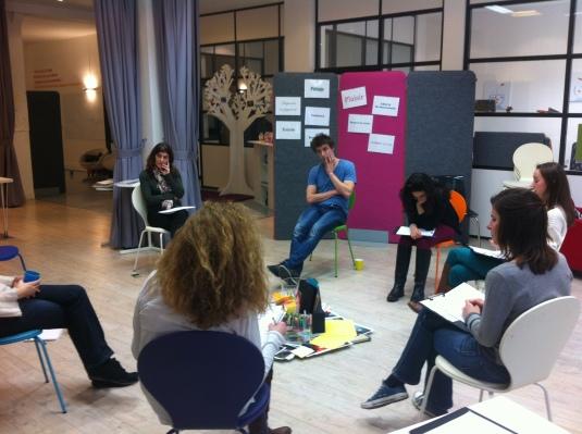 """Une session de formation sur le thème """" Travailler en intelligence collective """"  chez Imfusio"""