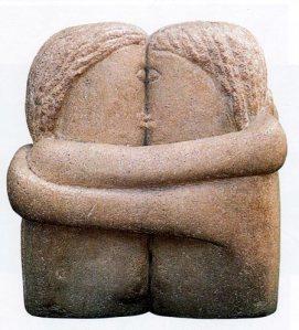 """Le baiser "" Constantin Brancusi ( 1876- 1957 )"