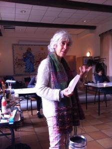 Sandrine Rouillon, art thérapeute, animatrice de l'atelier intérieur